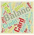 Balance Transfers Primer text background wordcloud vector image vector image