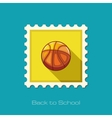 Basketball flat stamp vector image