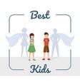 best kids flat excellent vector image vector image