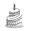 birthday cake icon image vector image vector image