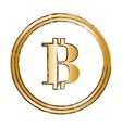 bitcoin golden currency digital symbol vector image