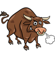bull farm animal cartoon vector image