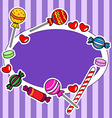 Candy billboard or sign in purple colors vector image vector image