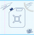 canister for gasoline line sketch icon isolated on vector image vector image