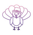 cartoon turkey icon vector image vector image
