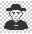Christian Priest Icon vector image vector image