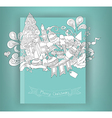Christmas and doodles elements icon book vector image vector image