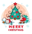 christmas colorful card vector image vector image