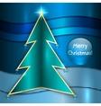 Christmas Metallic Greeting Card vector image vector image