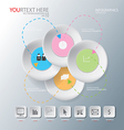 circle of Abstract business vector image vector image
