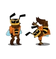 Cool bee in two variants vector image