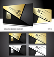 Creative and modern business card design vector image vector image