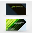 Creative business card design print templat vector image