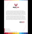 Creative colorful business flyer vector image vector image