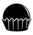 cupcake icon simple black style vector image vector image