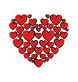 drawing red hearts love vector image vector image