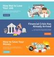 Economic Crisis Banners vector image