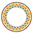 egyptian circular ornament vector image vector image