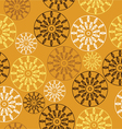 elegant seamless pattern with yellow flowers vector image vector image