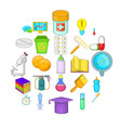 experience icons set cartoon style vector image