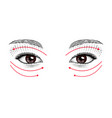 eyes eastern and european girls vector image vector image