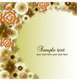 Floral abstract background eps 10 vector image vector image