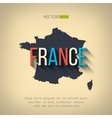 france map in flat design French border vector image