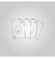 Game cards icon vector image vector image