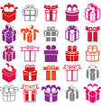 Gift boxes icons isolated on white background set vector image vector image