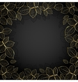 Gold frame with leaves vector image vector image