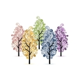Grove with trees for your design vector image vector image
