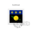 Guadeloupe Flag Postage Stamp vector image vector image