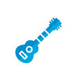 guitar flat icon vector image vector image