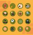 happy halloween orange color background trick or vector image vector image