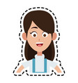happy pretty woman icon image vector image vector image