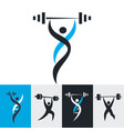 health and fitness logos vector image vector image