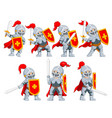 knight with different posing vector image