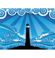 Lighthouse in the Sea4 vector image vector image