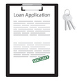 Loan application vector image