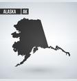Map us alaska isolated on modern background