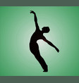 modern dance silhouettes image vector image