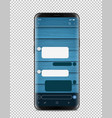 modern smartphone with blank chat interface vector image