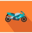 Motorcycle blue flat icon vector image vector image