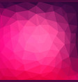 multicolor purple pink geometric rumpled vector image vector image