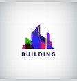 multicolored real estate logo designs for vector image vector image