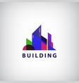 multicolored real estate logo designs vector image vector image