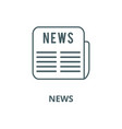 news line icon linear concept outline vector image vector image