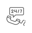 non stop service 24 7 help number line icon vector image