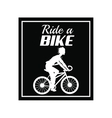 poster ride a bike cyclist silhouette dark vector image