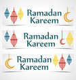 ramadan kareem background religion holiaday vector image
